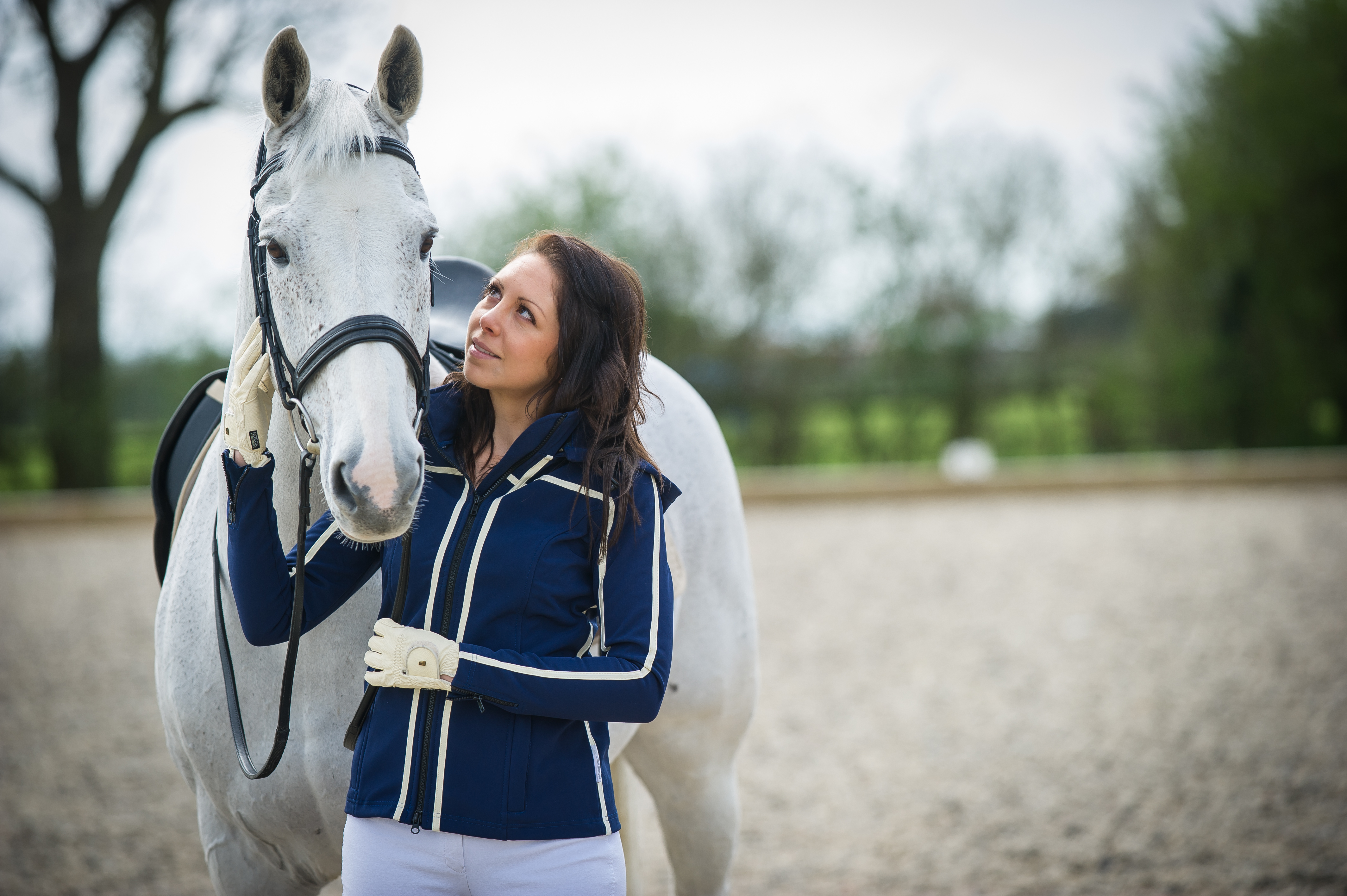 Visualise Navy and Cream - Burghley Edition Winter Jacket